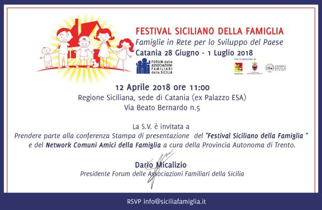 """""""FESTIVAL-SICILIANO-DELLA-FAMIGLIA-E-DEL-NETWORK-COMUNI-AMICI-DELLA-FAMIGLIA"""":--presentazione-dell'evento-giovedì-12-aprile"""
